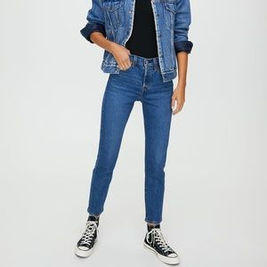 NEW Levi's Wedgie High Rise Ankle Crop Mom Jeans